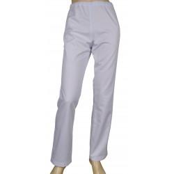 Spodnie długie damskie WERA na gumie, białe, elanobawełna