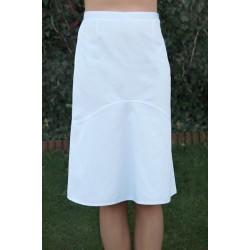Spódnica medyczna OLGA biała poszerzana za kolano, elanobawełna