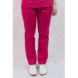Spodnie medyczne długie damskie WERA kolorowe na gumie elanobawełna