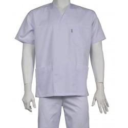 Bluza medyczna JAN biała z elanobawełny