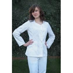Fartuch krótki / Żakiet medyczny RITA biały, długi rękaw