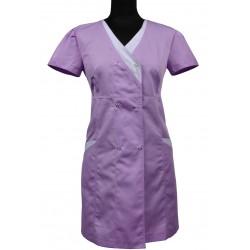 Fartuch długi/sukienka medyczna LIDIA II kolorowy - także ciążowy