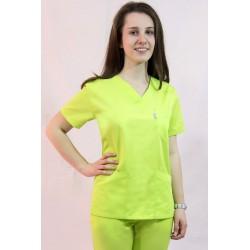 Bluza medyczna damska EWA kolorowa z elanobawełny