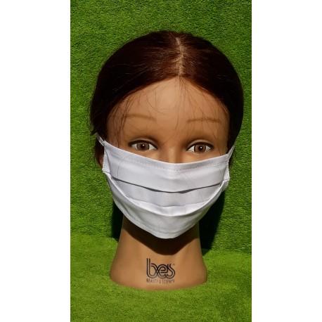 Maseczka ochronna wielokrotnego użytku - bawełna 100% z atestem do zastosowań medycznych
