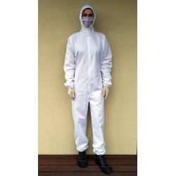 Kombinezon ochronny bawełniany wielorazowy biały
