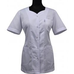 Fartuch krótki / Żakiet medyczny DANA krótki rękaw, biały